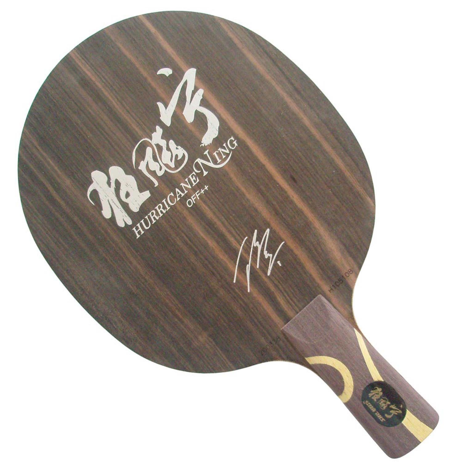 DHS Hurricane Ning 5-Ply OFF++ Table Tennis Blade for Ping Pong Racket, Penhold(Short Handle)-CS pro table tennis ping pong combo paddle racket dhs tg7 cp with tinarc3 and neo skyline tg2 shakehand long handle fl