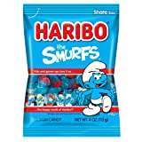 Haribo Gummi Candy, The Smurfs, 4-oz Bags (Pack of 12) (Tamaño: 4 Ounce (Pack of 12))