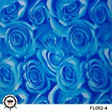 Hydrographic Film-Hydro Dipping-Blue Rose Hydro dip 1M Length for DIY 13 Designs for Choosing (052-4) (Color: 052-4)