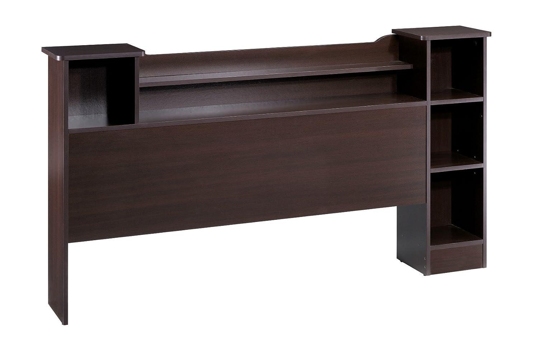 reversible full bed headboard bookcase head storage cubbies organizer shelves ebay. Black Bedroom Furniture Sets. Home Design Ideas