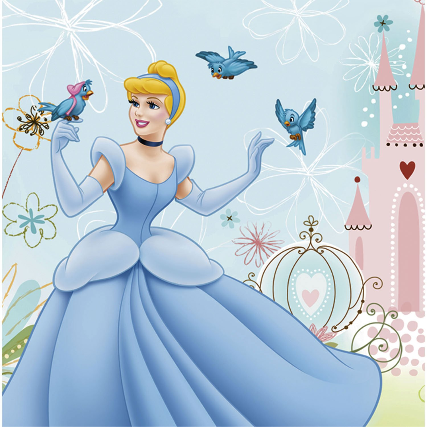 Each package of Cinderella Dreamland dessert plates includes 8 u2013 6 3/4u2033 paper plates Each heart shaped plate features Cinderella with her bird friends.  sc 1 st  Birthday Party Themes & Cinderella Dreamland Birthday Party | Birthday Wikii