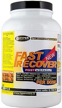 Fast Recover KG 3 Post Workout ideal fur eine gute Erholung der Muskeln . Von: Whey Protein , Dextrose , Creatin , Glutamin , Taurin , Alpha-Liponsäure , Vitamin E, Vitamin C Exklusive Formulierung bei Erholung der Muskeln ab. Orangengeschmack