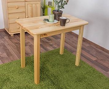Massivholz Tisch 90x55 cm Kiefer, Farbe: Natur