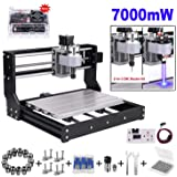 7000mw Laser Engraver CNC 3018 Pro Engraving Machine, GRBL Control 3 Axis Mini DIY CNC Router Kit with Offline Controller, Working Area 300x180x45mm, for Wood Plastic Acrylic PVC
