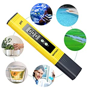 Digital PH Meter, PH Meter 0.01 Resolution Pocket Size Water Quality Tester with ATC 0-14 pH Measurement Range for Household Drinking Water, Aquarium, Swimming Pools, Hydroponics (Color: New)
