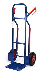 Sackkarre, Gleitkufen 250 KG blau, 111x50x53 cm (Transportkarre Stapelkarre Handkarre)   Kundenbewertung und Beschreibung