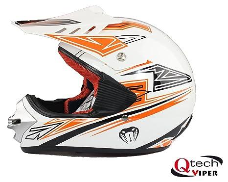 Casque de moto-cross - MX/quad/BMX/tout-terrain/loisir - enfant - Orange - L (51-52 cm)