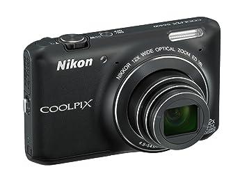 """Nikon Coolpix S6400 Compact numérique, 16 mégapixels, zoom 12x, ISO 3200 max, écran tactile LCD 3 """", Black [carte Nikon: 4 ans de garantie]"""