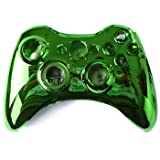 HDE XBOX 360 Wireless Controller Shell Replacement Buttons Thumbsticks Custom Cover Case Kit - Chrome Green