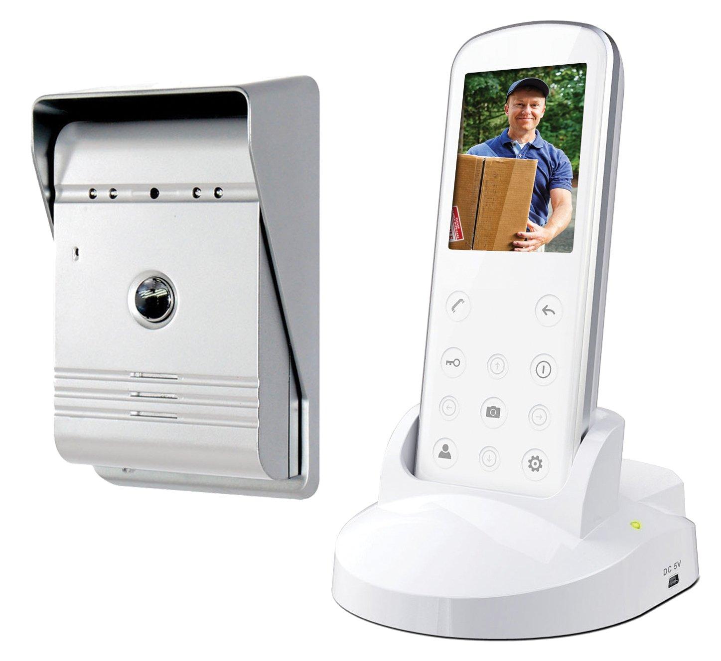 Smartwares Drahtlose Videotürsprechanlage mit Nachtsichtfunktion und Bildaufnahme, Funkreichweite bis zu 175 m, VD36W  BaumarktKritiken und weitere Infos