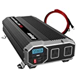 ENERGIZER 1500 Watt 12V Power Inverter, Dual 110V AC Outlets, Automotive Back Up Power Supply Car Inverter,Converts 120 Volt AC with 2 USB Ports 2.4A Each (Tamaño: 1500W)