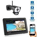 CasaCam VS1001 Wireless Security Camera System with AC Powered HD Spotlight Camera and 7