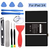 HDCKU Battery for iPad 3(3rd Generation Battery) and iPad 4 (4th Generation Battery) Replacement iPad Battery with Repair Tools(365 Days Warranty) (Color: For iPad 3/4 Only)