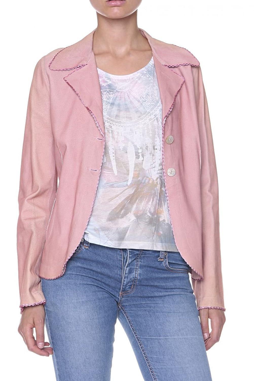 Cristiano di Thiene Collezione Damen Jacke Lederjacke , Farbe: Altrosa jetzt kaufen