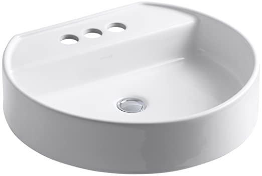 KOHLER K-2331-4-0 Chord Wading Pool Bathroom Sink, White