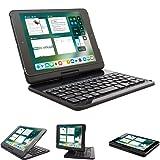 Lenrich iPad Mini 4 case with Keyboard 7.9 inch, Ultra Slim 360 Degree Rotatable 180 Flip Swivel Wireless Keyboard Cover Folio Hard Shell Stand Auto Sleep Wake up Black (Color: iPad mini 4 Black, Tamaño: 7.9 inch iPad mini 4)