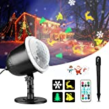 Christmas Projector Lights, Gemwon Holiday Lights with Remote Control & Moving Patterns, Outdoor Waterproof Decorative Lights for Xmas, Parties, House (Color: Xmas Projector Light)