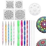 Mandala Dotting Tools for Painting Rocks Pen Dotting Tools Mandala Stencil Brush Set 18 PCS