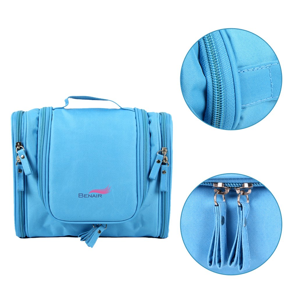 Travel Kit Organizer Bathroom Storage Cosmetic Bag Toiletry Bag Blue