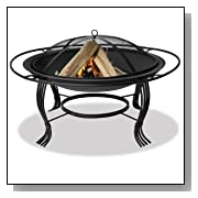 Wood Burning Fire Pit with Outer Ring