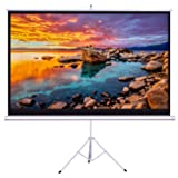 Projector Screen with Stand, WONNIE HD 16:9 Indoor Outdoor Projection Screen 100 Inch, Movie Screen for Cinema and Office Presentation, Premium Wrinkle-Free Design