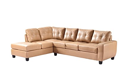 Glory Furniture G201B-SC Sectional Sofa, Tan, 2 boxes