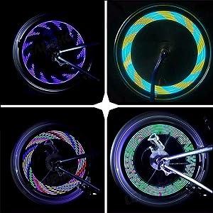 Spoke Light,BYPA Super Bright 14 LED Motorcycle/Bicycle/Cycling/Bike Wheel Bike Signal Tire Rim Light 30 Changes Waterproof