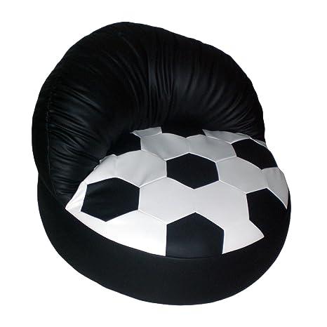 Fussball Relaxsessel weiß/schwarz
