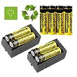 Directsale92 LOT Garberiel 3.7V 18650 BRC Battery Li-ion 6000mAh Rechargeable Battery+Charger (8x GARBERIEL 18650 Rechargeable Battery +)