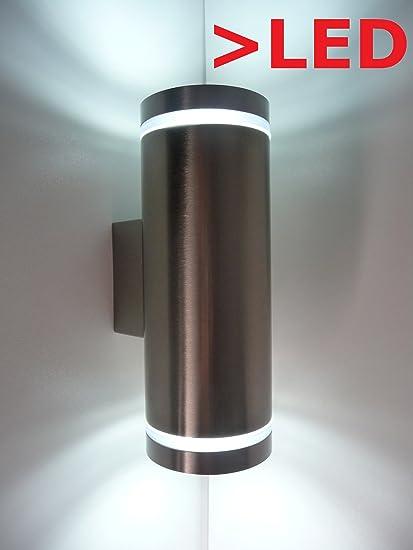 led wandleuchte up down 230v 6watt au en kaltwei. Black Bedroom Furniture Sets. Home Design Ideas