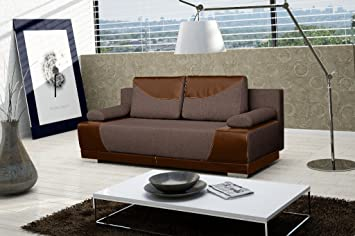 MANHATTAN Sofa Bed * Brand New * Modern Design * LIGHT AND DARK BROWN