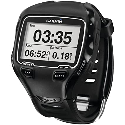 Garmin Forerunner 910XT avec Ceinture Cardio - Montre GPS Multisports - Noir