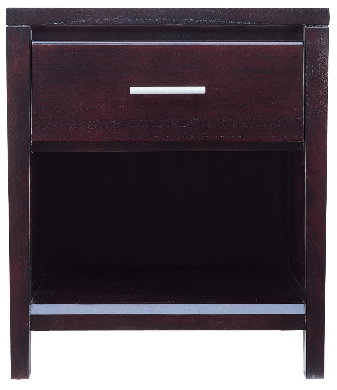 Modus Furniture Nevis One Drawer Nightstand, Espresso