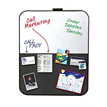 Post-it Message Board with Marker, 18 x 22-Inches, Black and Gray