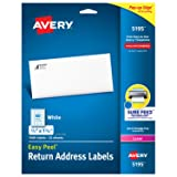 Avery Return Address Labels with Sure Feed for Laser Printers, 2/3