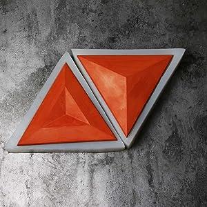 Triangle Wall Tile Mold Concrete Wall Brick Mold Silicone Tile Mold (Convex) (Color: Random, Tamaño: Convex)