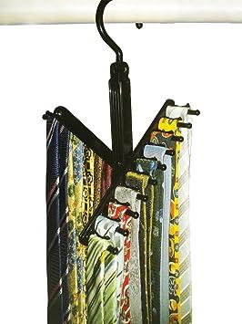 Tie Rack /Hanger Organizer, the Compact Necktie Hanger Cross by Aristocrat Homewares 5.1 X 0.6