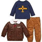 Little Me Kids 3-Piece Set ~ Kids Clothing Back to School Sets ~ (12m, Aviator) (Color: Aviator, Tamaño: 12 Months)