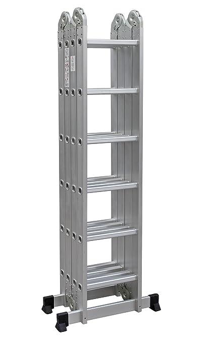 Worhan escalera multiuso multifuncional plegable - Escalera plegable altillo ...