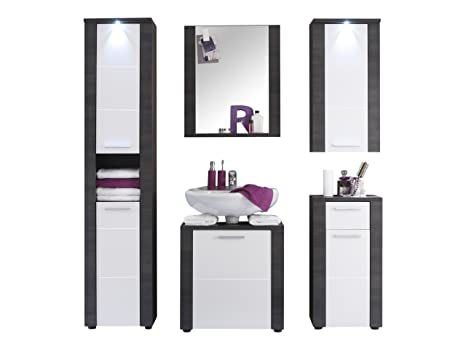 Furnline Xpress Bathroom Furniture Set, Ash Grey/White