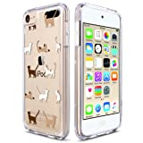 ULAK iPod Touch 6 Case, iPod Touch 7 Case, Slim Fit Hybrid Bumper TPU/Scratch Resistant Hard PC Back/Corner Shock Absorption Case for Apple iPod Touch 5th 6th 7th Generation, Cat (Color: Clear_Colorful Cat)