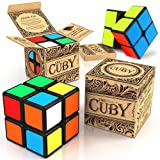 aGreatLife Deluxe Speed Cuby 2x2 Cube - Two - Layer Brain Teaser Colorful Games and Puzzles - Improved Sticker Quality - Perfect Mind Teaser for Kids, Toddlers and Adults (Color: 2x2)