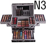 RoseFlower Pro 132 Colors All In One Makeup Kit Cosmetic Contouring Palette (Concealer, Face Powder, Lipgloss, Blusher, Contour Shade, Lip Liner, Eye Liner and Eyebrow powder)#4