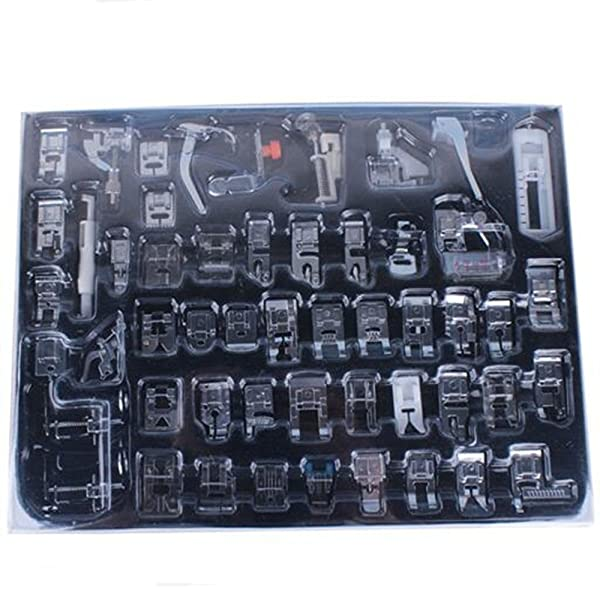 YEQIN Professional 52 PCS Domestic Sewing Machine Foot Presser Foot Presser Feet Set for Singer, Brother, Janome,Kenmore, Babylock,Elna,Toyota,New Home,Simplicity and Low Shank Sewing Machines (Tamaño: 52 PCS)