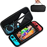 Travel Case Storage Bag for Nintendo Switch, Protective and Waterproof Storage Bag, Nintendo Switch Carry Case with Detachable Hand Wrist Strap, Portable and Suitable for Nintendo Switch Accessories (Color: black)