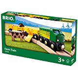 Brio Farm Animal Toy Train - Made with European Beech Wood