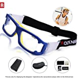Sports Goggles Safety Glasses Adjustable Eyewear for Basketball Football Volleyball for Men Women Blue (Color: Adult Blue)