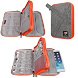 Universal Electronics Accessories Organizer Bag for USB,SD Card, Flash Driver,Cable Cords,Power Bank,iPad Mini, Travel Gear Bag(Medium, Grey Color) (Color: Grey, Tamaño: Medium)