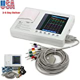 """Pevor 7"""" Color LCD Display 3 Channel 12 Lead Monitor 903A3 Machine with Printing Paper (Color: White)"""