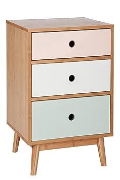 Jolipa 61991 Cómoda Vintage de madera y madera DM, 40 x 45 x 71 cm